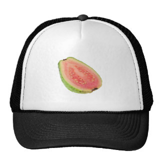 Cross section of a pink guava hats