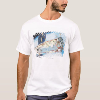 Cross section of solar powered space station T-Shirt