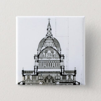 Cross section of St. Paul's Cathedral 15 Cm Square Badge