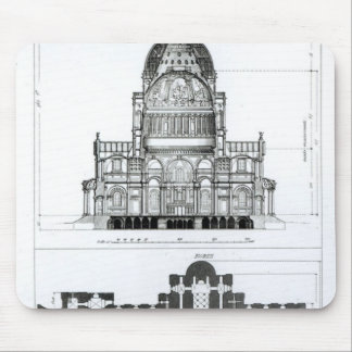 Cross section of St. Paul's Cathedral Mouse Pad
