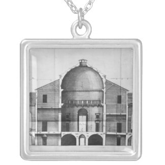 Cross-section of the Villa Rotonda near Silver Plated Necklace