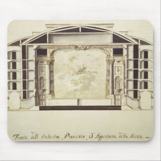 Cross section view of a theatre on the Grand Canal Mouse Mat