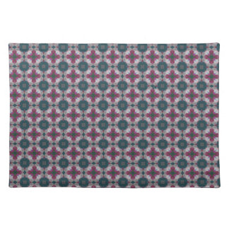 Cross Shaped On Blue Spruce. Stained Glass Pattern Place Mat