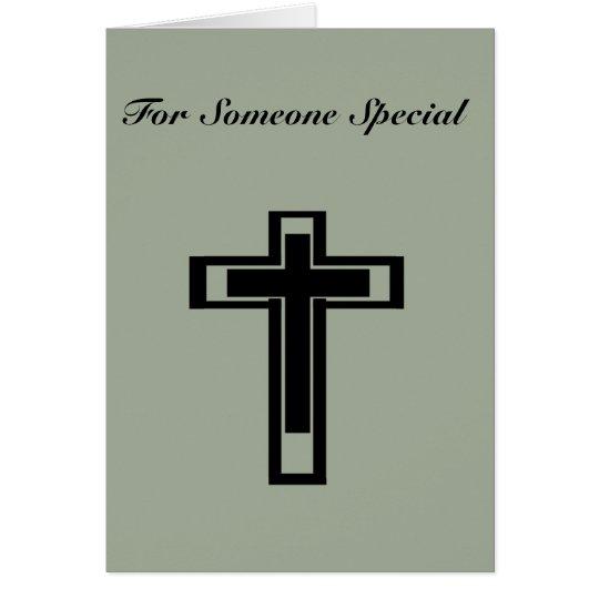 Cross, Standard white envelopes included Card