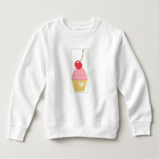 Cross stitch cherry cupcake sweatshirt