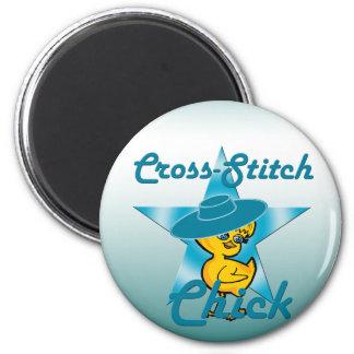 Cross-Stitch Chick #7 6 Cm Round Magnet