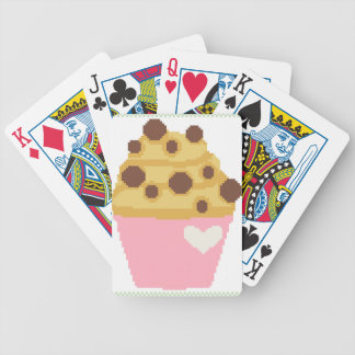 cross stitch chocolate chip muffin bicycle playing cards
