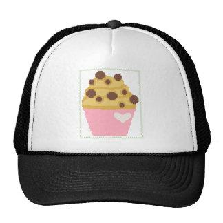 cross stitch chocolate chip muffin cap