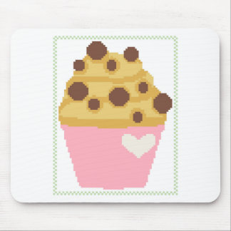 cross stitch chocolate chip muffin mouse pad