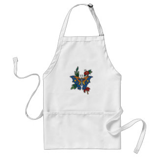 cross stitch embroidery butterfly apron