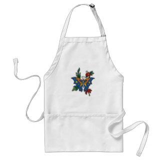 cross stitch embroidery butterfly standard apron