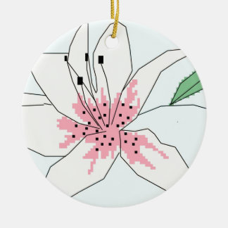 Cross stitch lily christmas ornament