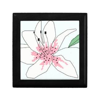 Cross stitch lily gift box