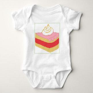 Cross stitch piece of cake baby bodysuit
