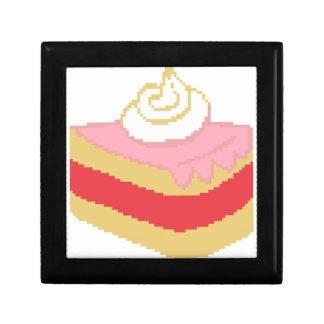 Cross stitch piece of cake small square gift box