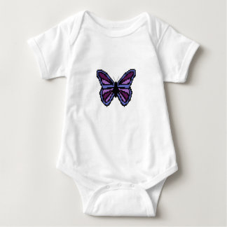 Cross stitch purple butterfly baby bodysuit