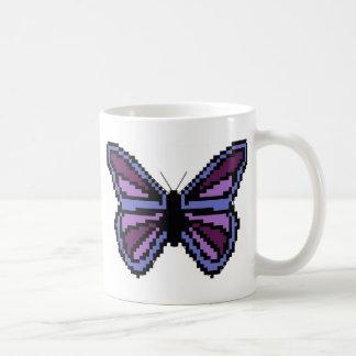 Cross stitch purple butterfly coffee mug