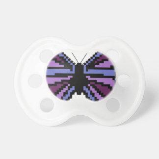 Cross stitch purple butterfly pacifiers
