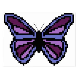Cross stitch purple butterfly postcard