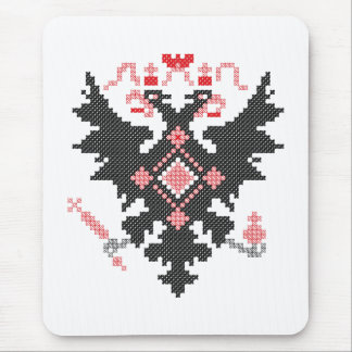 Cross-stitch RUSSIAN IMPERIAL TWO-HEADED EAGLE Mouse Pad