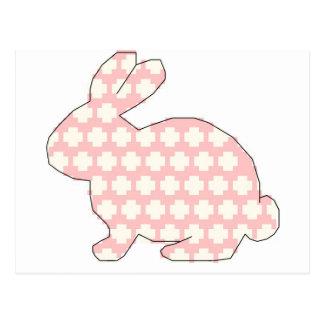 Cross stitch Spotty rabbit Postcard