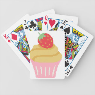 Cross stitch strawberry cupcake bicycle playing cards