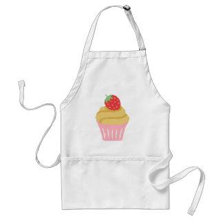 Cross stitch strawberry cupcake standard apron