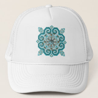 cross stitch trucker hat