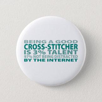 Cross-stitcher 3% Talent 6 Cm Round Badge
