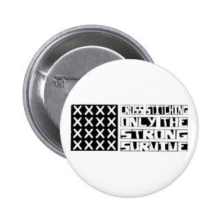 Cross-stitching Survive Pins