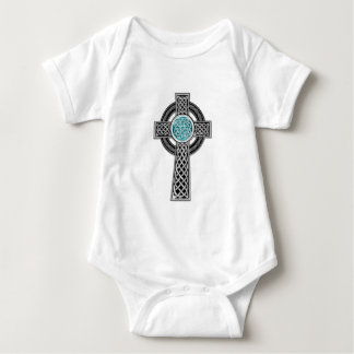 Cross-Tattoo-Design-(white) Baby Bodysuit