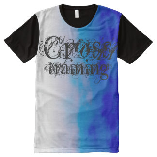 Cross Training Cycling Blue White Breeze Design All-Over Print T-Shirt