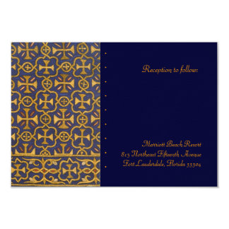 Cross Vestment Reception 9 Cm X 13 Cm Invitation Card