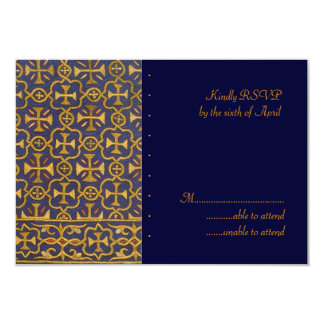 Cross Vestment RSVP 9 Cm X 13 Cm Invitation Card