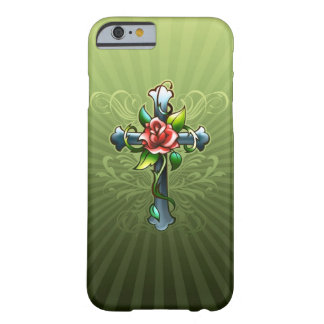 Cross with a Thorned Rose iPhone 6 case Barely There iPhone 6 Case