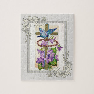 Cross With Crown Of Thorns Jigsaw Puzzle