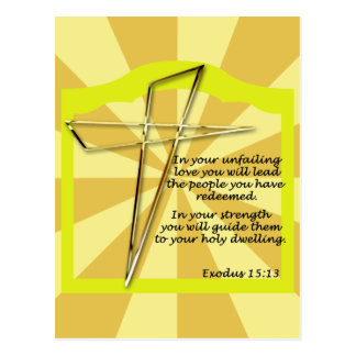 cross with scripture postcards