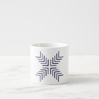 Cross X (black & blue) Espresso Mug