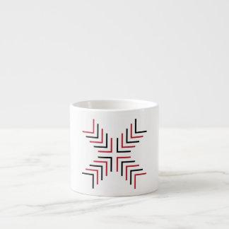 Cross X (red & black) Espresso Mug
