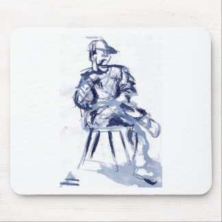 cross you're legs and wait. with Jun Mousepad