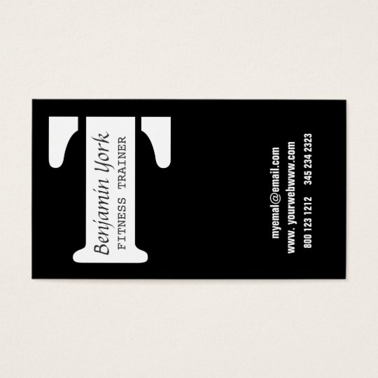 Cross Your T Ultra Modern Letter Logo Business Card