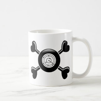 Crossbones Air Traffic Control Basic White Mug