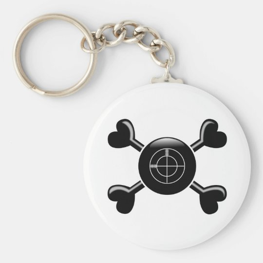 Crossbones CounterStrike Basic Round Button Key Ring