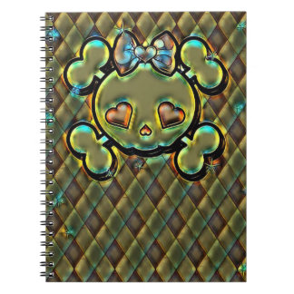 Crossbones Spiral Notebook