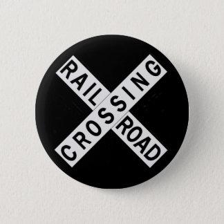 Crossbuck 6 Cm Round Badge