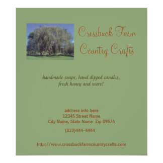 Crossbuck Farm Table Display Posters