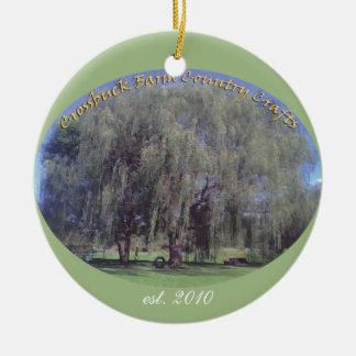 Crossbuck Farm Willow_Tree est 2010 Christmas Tree Ornaments