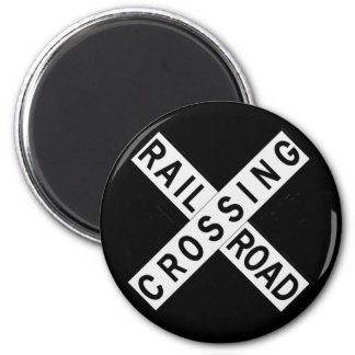Crossbuck Magnet