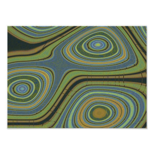 Crosscut Abstract Print