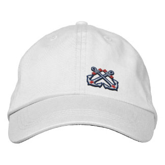 Crossed Anchors Nautical Star Embroidery Baseball Cap
